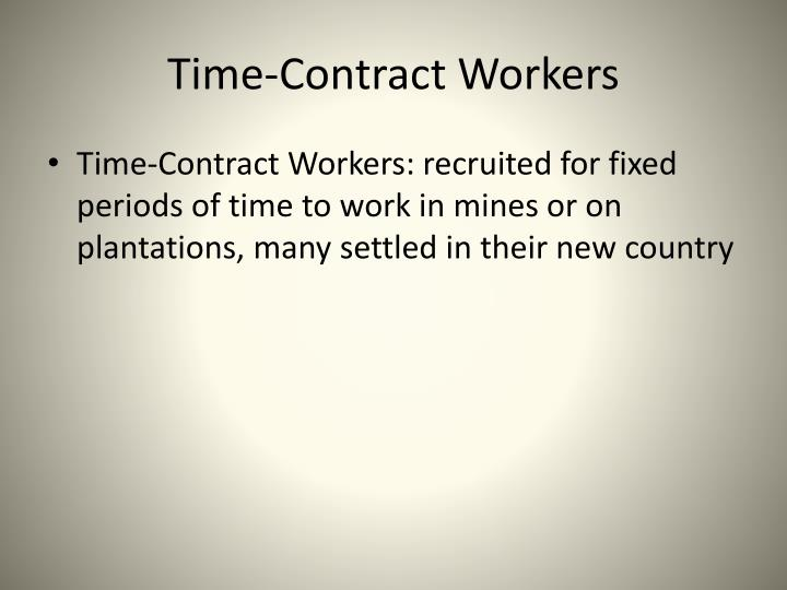 Time-Contract Workers