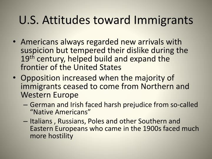 U.S. Attitudes toward Immigrants