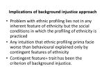 implications of background injustice approach
