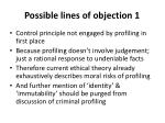 possible lines of objection 1