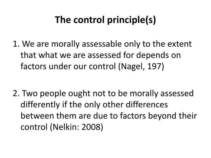 The control principle(s)