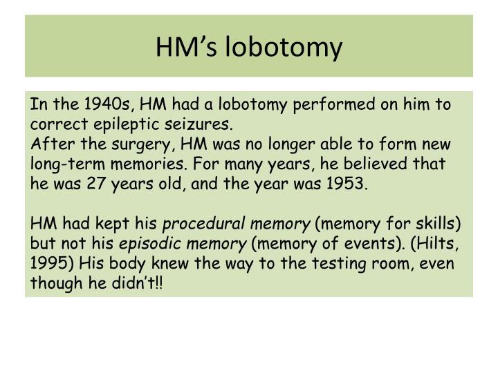 HM's lobotomy