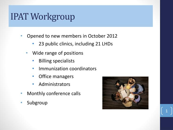 Ipat workgroup