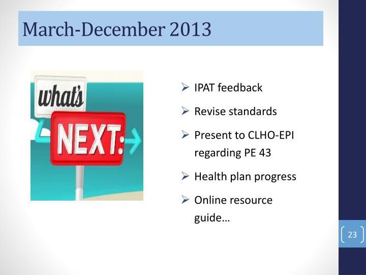 March-December 2013
