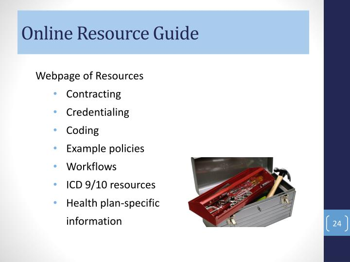 Online Resource Guide