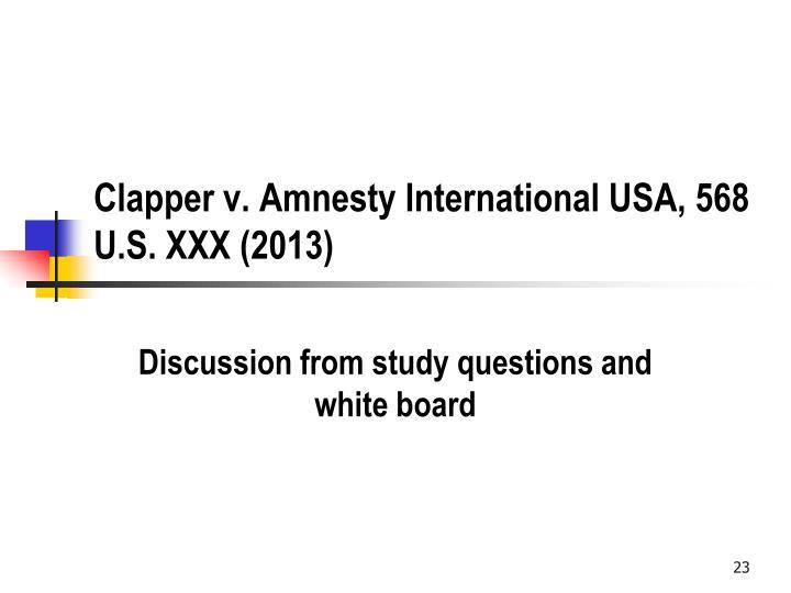 Clapper v. Amnesty International USA, 568 U.S. XXX (