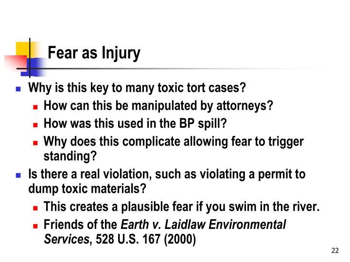 Fear as Injury