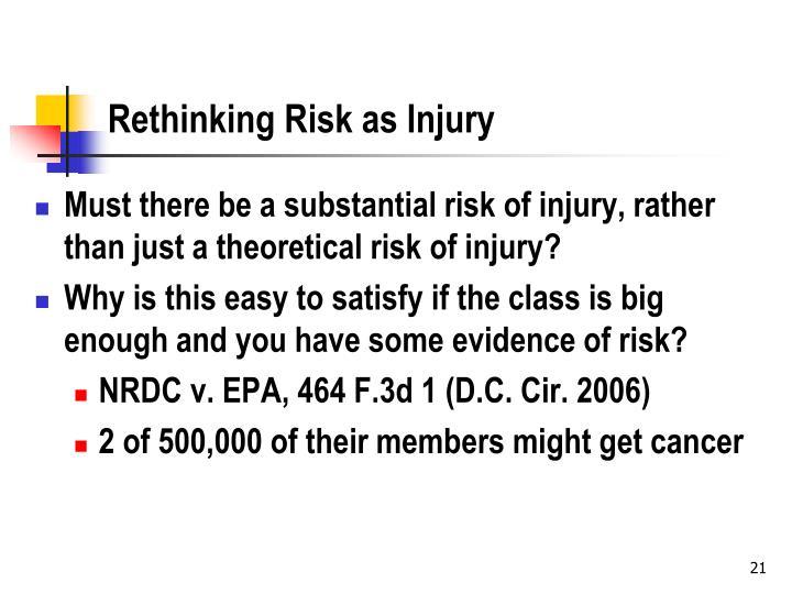 Rethinking Risk as Injury