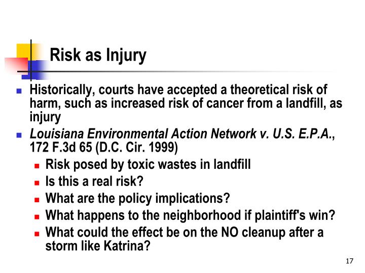 Risk as Injury