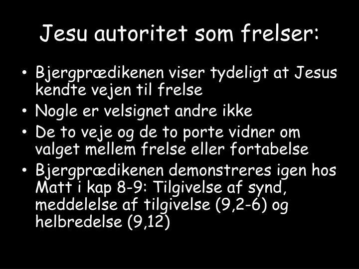 Jesu autoritet som frelser: