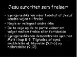 jesu autoritet som frelser