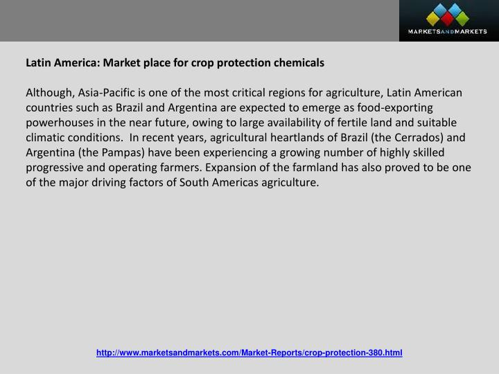 Latin America: Market place for crop protection chemicals