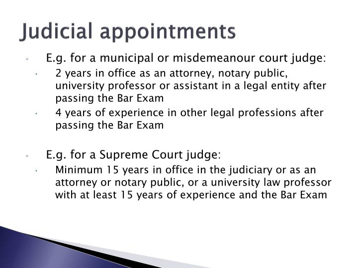 Judicial appointments