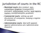 jurisdiction of courts in the rc2