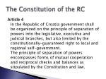 the constitution of the rc12