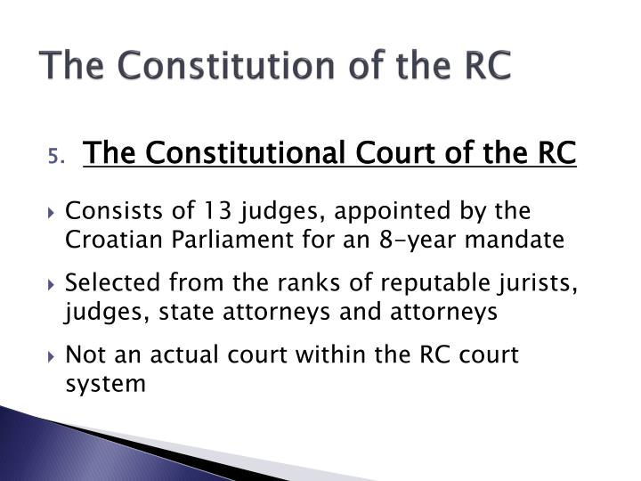 The Constitution of the RC