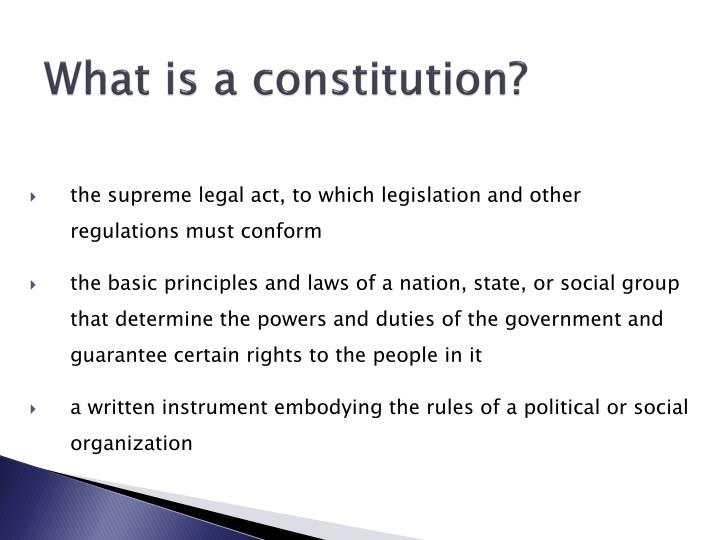 What is a constitution?