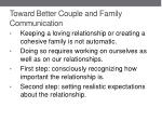 toward better couple and family communication