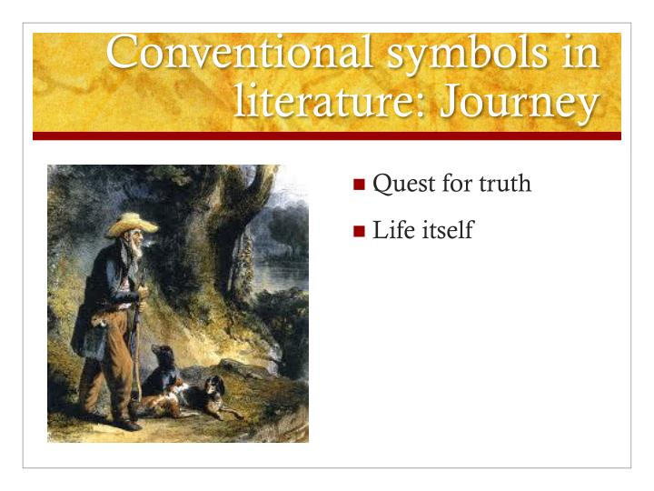 Conventional symbols in literature: Journey