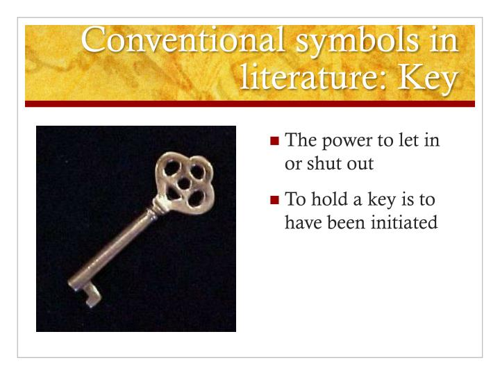 Conventional symbols in literature: Key