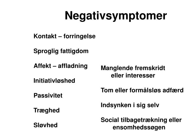 Negativsymptomer