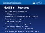 nasis 6 1 features