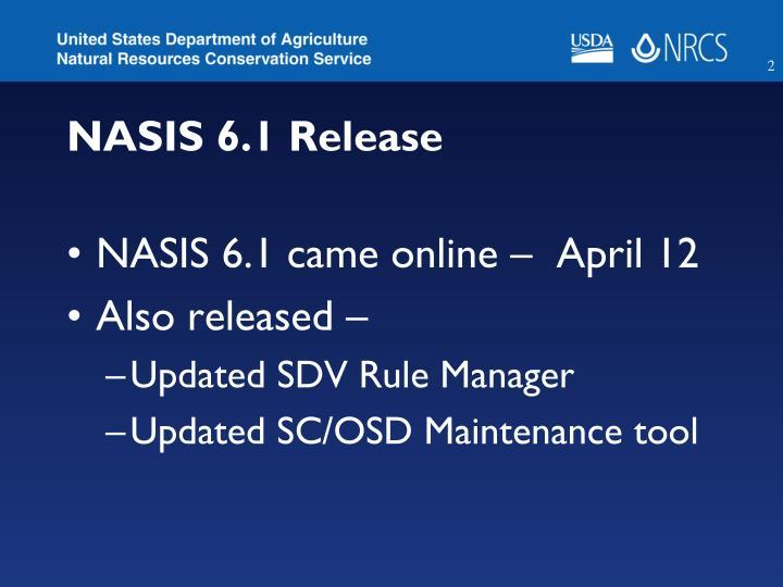 NASIS 6.1 Release
