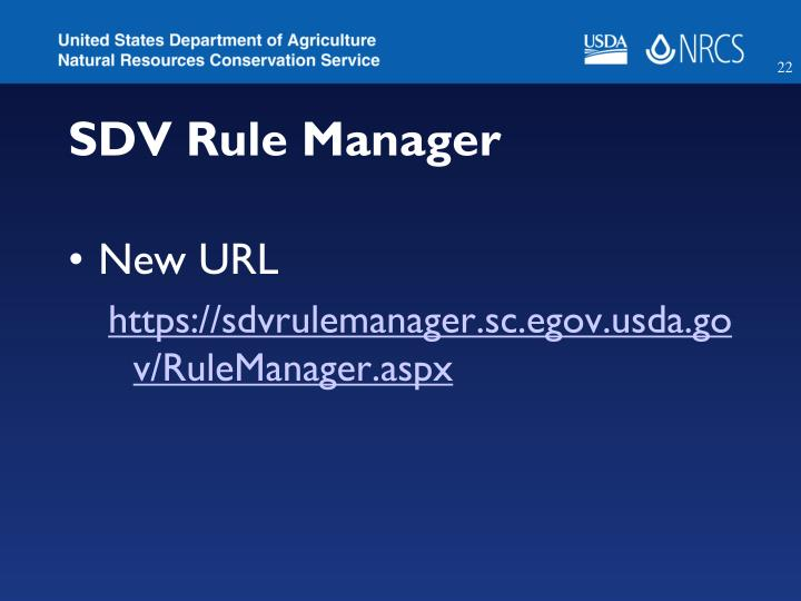 SDV Rule Manager
