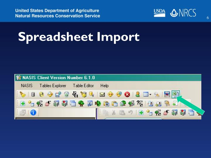 Spreadsheet Import