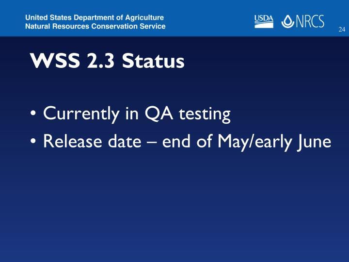 WSS 2.3 Status