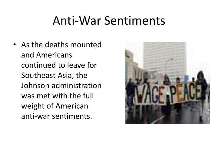 Anti-War Sentiments
