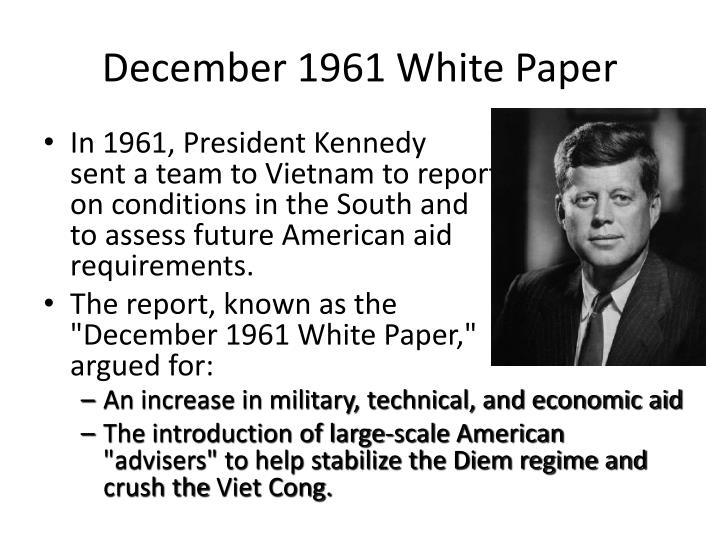 December 1961 White Paper