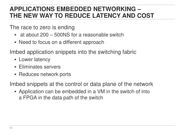 Applications Embedded Networking –