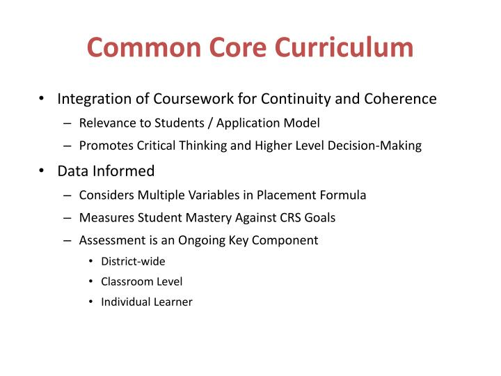 Common Core Curriculum