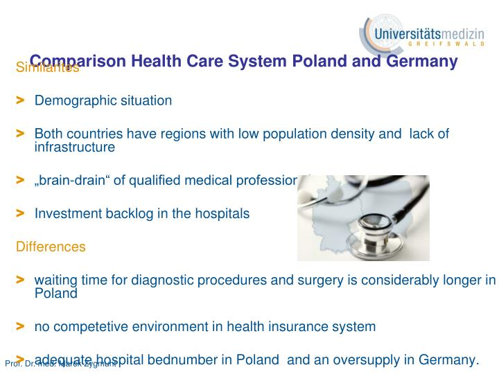 Comparison Health Care System Poland and Germany