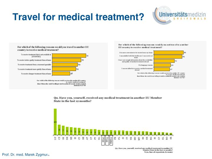 Travel for medical treatment?