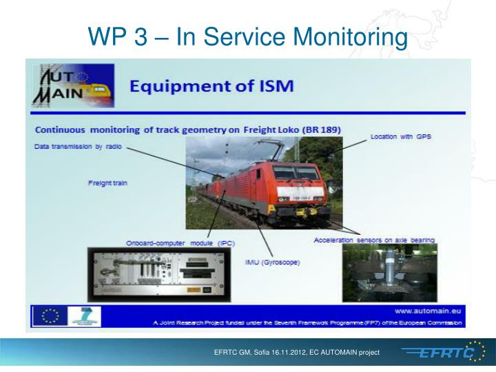 WP 3 – In Service Monitoring