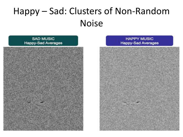 Happy – Sad: Clusters of Non-Random Noise