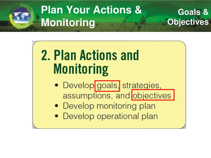 Plan your actions monitoring