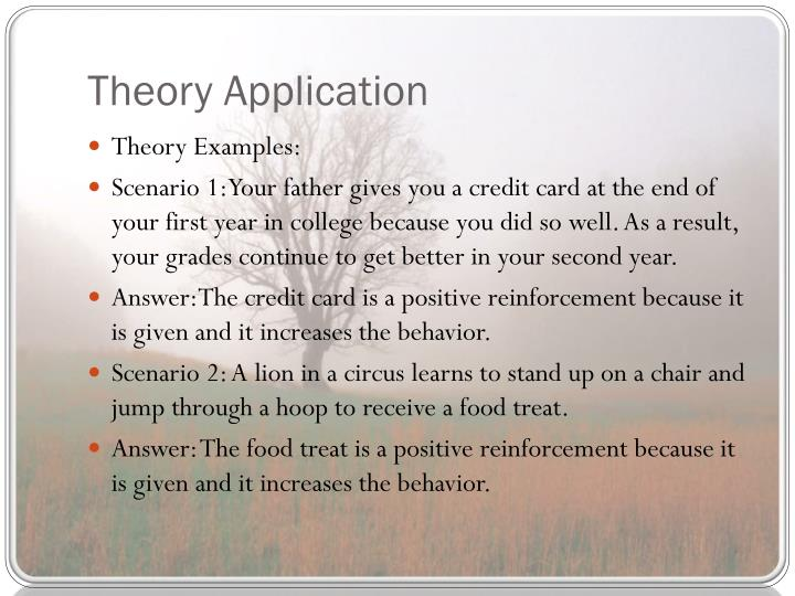 Theory Application