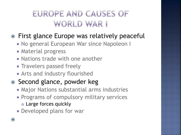 Europe and Causes of