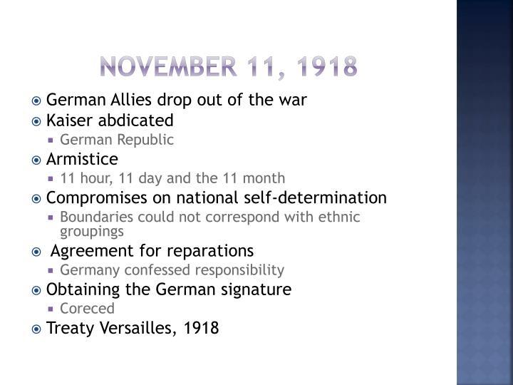 November 11, 1918