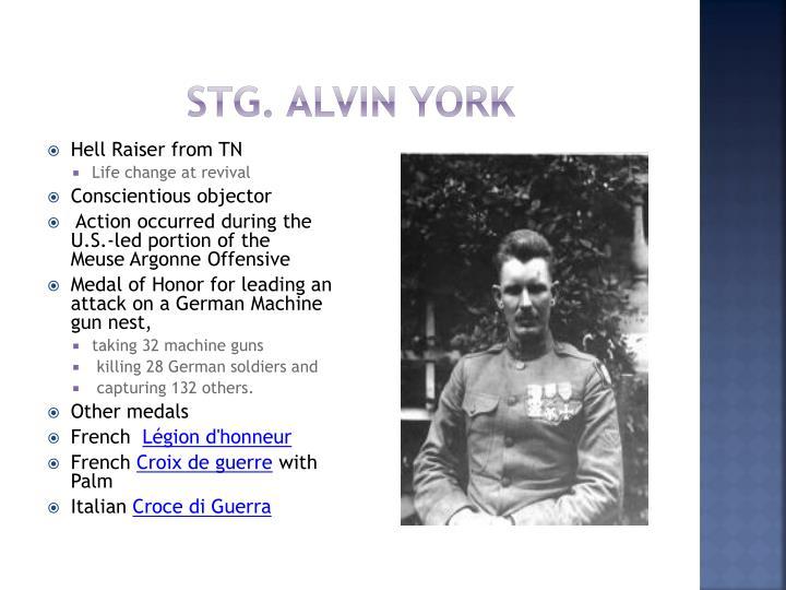 Stg. Alvin York