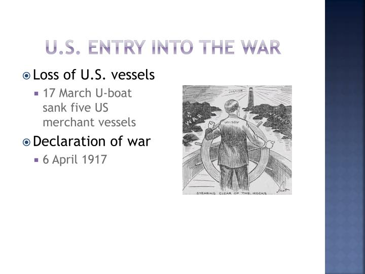 U.S. entry into the war