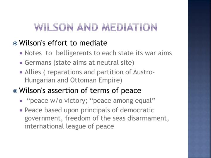 Wilson and Mediation