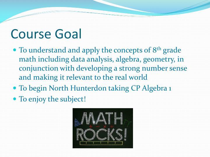 Course Goal