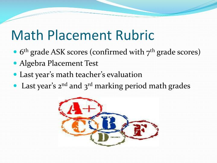 Math Placement Rubric