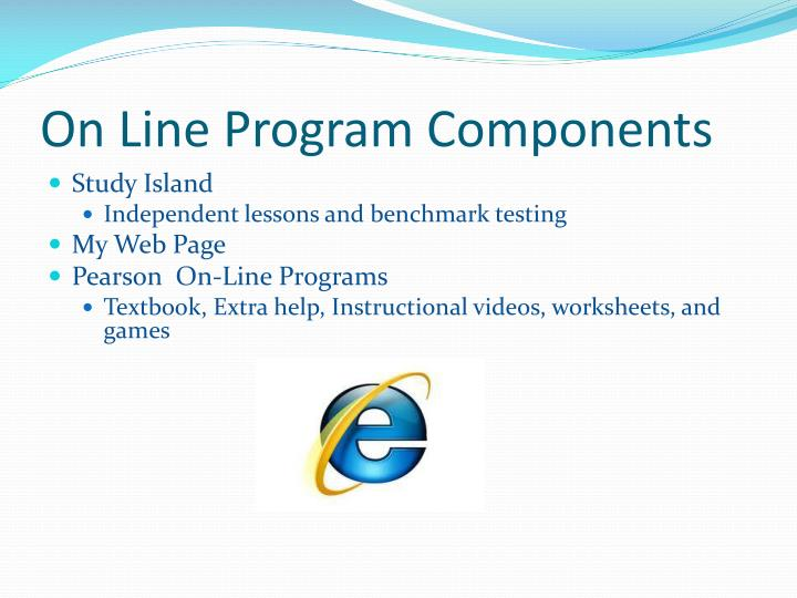 On Line Program Components