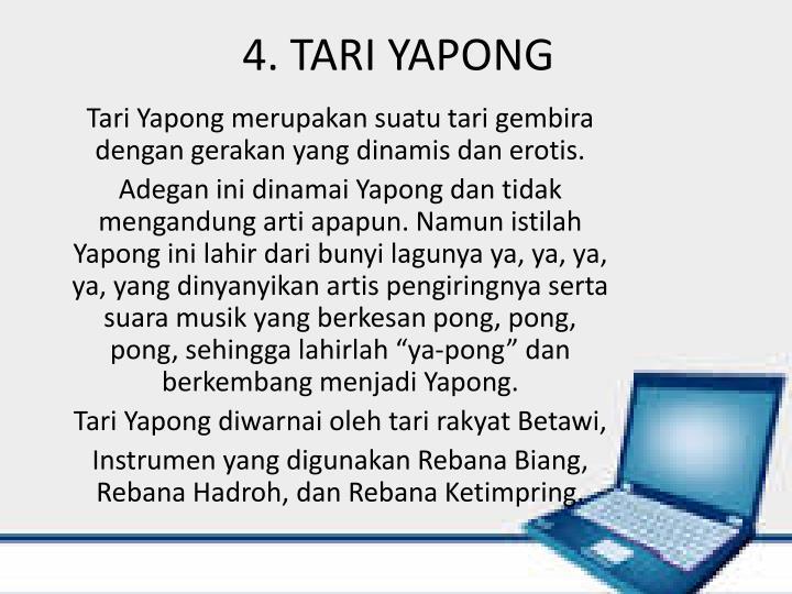 4. TARI YAPONG