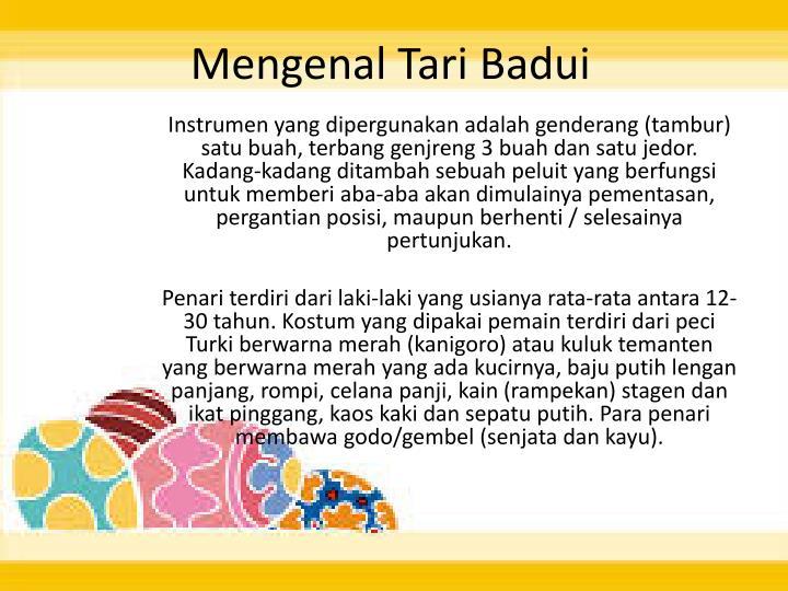 Mengenal Tari Badui
